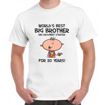 Worlds Best Big Brother Men's 30th Birthday Present T-Shirt