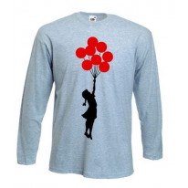Banksy Girl With Red Balloons Long Sleeve T-Shirt