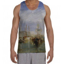 William Turner Grand Canal Venice Men's All Over Graphic Vest Tank Top