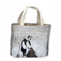 Banksy Maid Tote Shopping Bag For Life