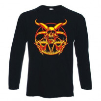 Pentagram Fire Long Sleeve T-Shirt