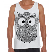 Cross Eyed Owl Large Print Men's Vest Tank Top