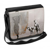 Banksy Shower Kids Peeping Toms Laptop Messenger Bag