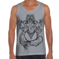 Ganesha Indian Hindu Elephant God Hipster Large Print Men's Vest Tank Top