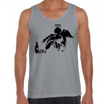 Banksy Fallen Angel Men's Tank Vest Top