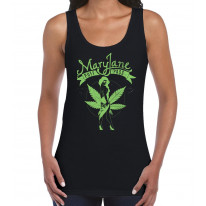 Mary Jane Cannabis Women's Tank Vest Top