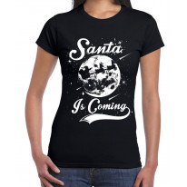 Santa Is Coming Father Christmas Women's T-Shirt