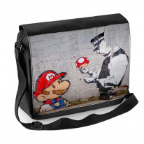 Banksy Mario and Copper Laptop Messenger Bag