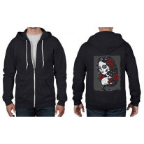 Day Of The Dead Tattoo Full Zip Hoodie
