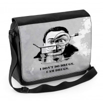 Salvador Dali Drugs Quote Laptop Messenger Bag
