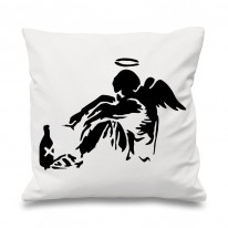 Banksy Fallen Angel Sofa Cushion