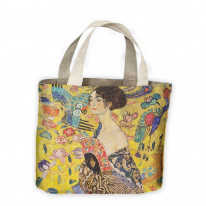 Gustav Klimt Lady with Fan Tote Shopping Bag For Life