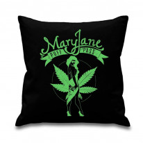 Mary Jane Cannabis Leaf Cushion