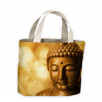 Buddha Golden Head Tote Shopping Bag For Life