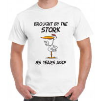 Brought By The Stork 85 Years Ago 85th Birthday Men's T-Shirt