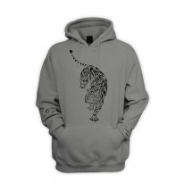Tribal Tiger Tattoo Men's Pouch Pocket Hoodie Hooded Sweatshirt