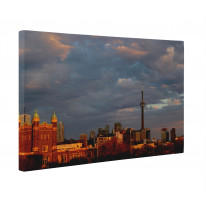 Toronto Skyline With CN Tower Canvas Print Wall Art - Choice Of Sizes