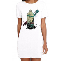Graffiti Aerosol Spray Can Women's T-Shirt Dress