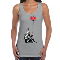 Banksy No Trespassing Native Indian Women's Tank Vest Top