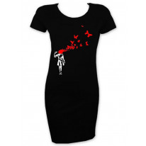 Banksy Butterfly Suicide T Shirt Dress