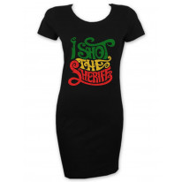 I Shot The Sheriff Reggae Short Sleeve T-Shirt Dress