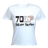 70 Year Old Silver Surfer 70th Birthday Women's T-Shirt
