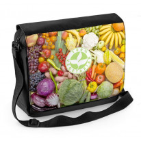 Vegetarian Logo Laptop Messenger Bag