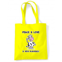 Peace, Love & Vegi Burgers Vegetarian Shoulder BagBag