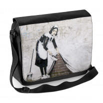 Banksy Maid Laptop Messenger Bag
