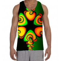 Psychedelic Pattern Men's All Over Graphic Vest Tank Top