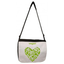 Vegan Heart Laptop Messenger Bag