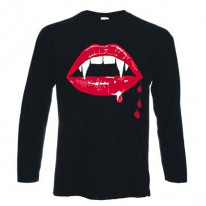 Vampire Fangs Long Sleeve T-Shirt