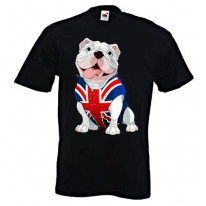 British Bulldog Union Jack Waistcoat Mens T-Shirt
