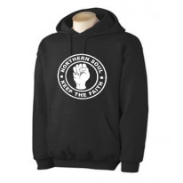 Northern Soul Keep The Faith White Print Hoodie