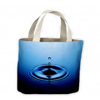 Drop of Water Blue Tote Shopping Bag For Life