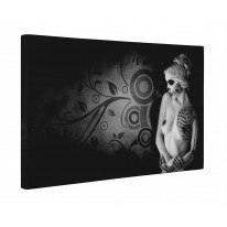 Day of the Dead Girl Nude Box Canvas Print Wall Art - Choice of Sizes