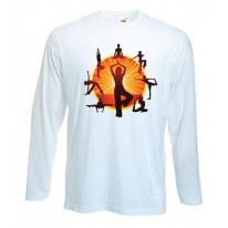 Yoga Wheel Long Sleeve T-Shirt