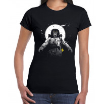 Astronaut Monkey Chimpanzee Women's T-Shirt