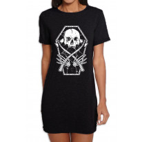 Grim Reaper Skeleton In A Coffin Women's T-Shirt Dress T-Shirt