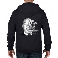 Martin Luther King Bank Of Justice Quote Full Zip Hoodie
