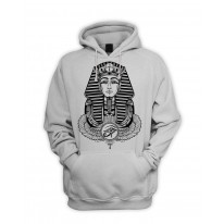 Egyptian Pharoah With Winged Ankh Symbol Men's Pouch Pocket Hoodie Hooded Sweatshirt