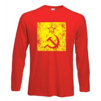 Hammer & Sickle Grunge Logo Long Sleeve T-Shirt