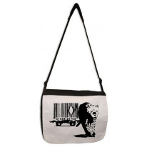 Banksy Barcode Leopard Laptop Messenger Bag