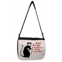 Banksy I'm Out Of Bed And Dressed Rat Laptop Messenger Bag