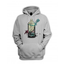 Graffiti Spray Can Men's Pouch Pocket Hoodie Hooded Sweatshirt