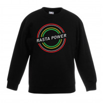 Rasta Power Reggae Children's Unisex Sweatshirt Jumper