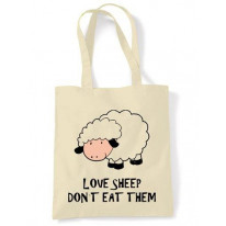 Love Sheep Don't Eat Them Vegetarian Tote Shoulder Bag