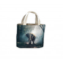 Elephant in Forest Tote Shopping Bag For Life