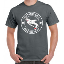 Northern Soul Keep The Faith Dancer Logo Men's T-Shirt