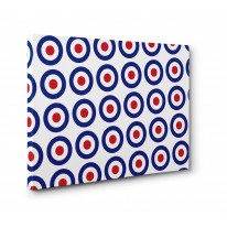 Mod Target Box Canvas Print Wall Art - Choice of Sizes